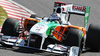 Adrian Sutil, qualifying for the Japanese Grand Prix.