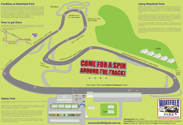 Wakefield Park track map
