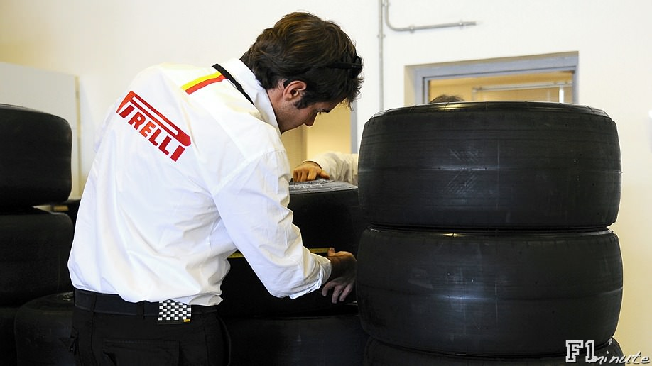 Pirelli prepare for their first official F1 test