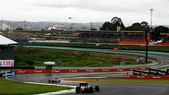 Overlooking the track at Interlagos, the scene of a surprising qualifying