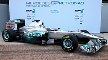 The W02 breaks cover in Valencia