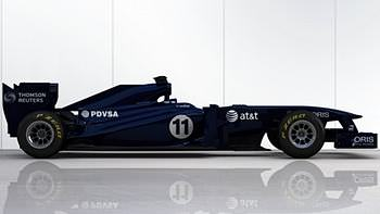 The menacing testing livery from Williams