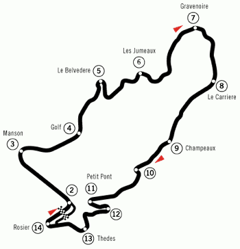 Clermont-Ferrand held its first GP in 1965