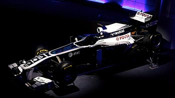 Williams launch their official blue and white livery for 2011