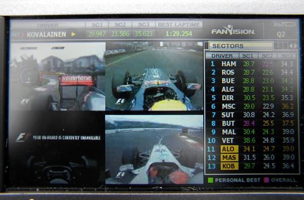 Picture 4 - main feed, plus onboard cameras