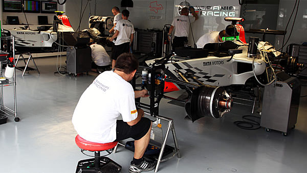 Hispania get ready for Free Practice in Malaysia