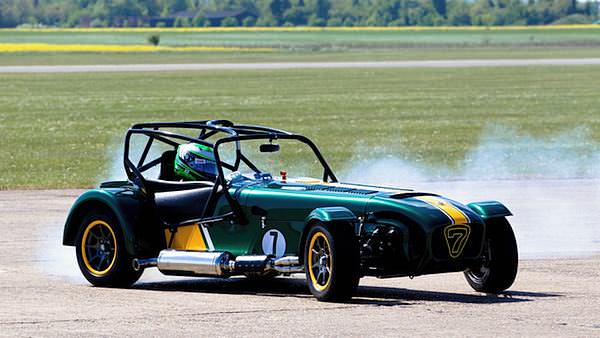 Heikki feels well when testing the Caterham at Duxford