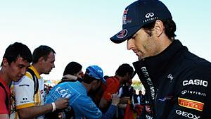Mark Webber leads both Free Practice sessions in Spain