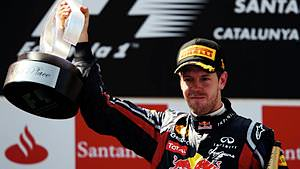 Sebastian Vettel takes a hard-fought victory in the Spanish Grand Prix