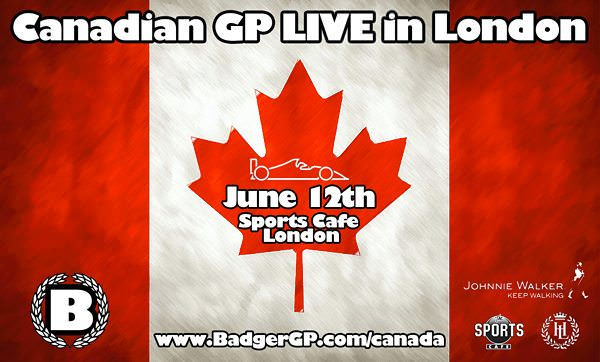 Watch the Canadian GP live in London