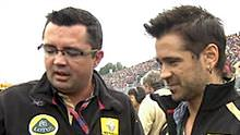 Colin Farrell and Eric Boullier