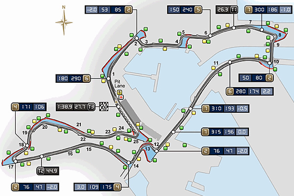 Valencia Street Circuit Map