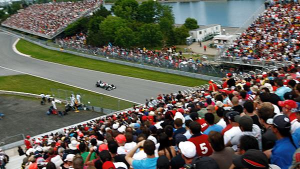 The crowds pile in for the Canadian Grand Prix