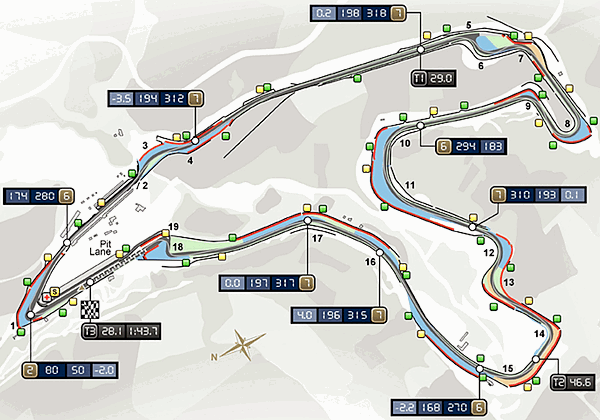 Spa-Francorchamps Map