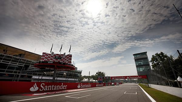 The sun shines over Monza ahead of the race weekend