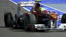 Massa tyre damage