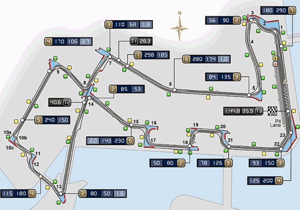 Marina Bay Street Circuit Map