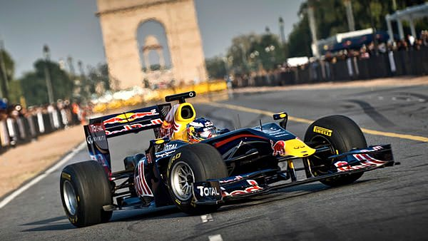 Red Bull complete Indian demonstration with Daniel Ricciardo