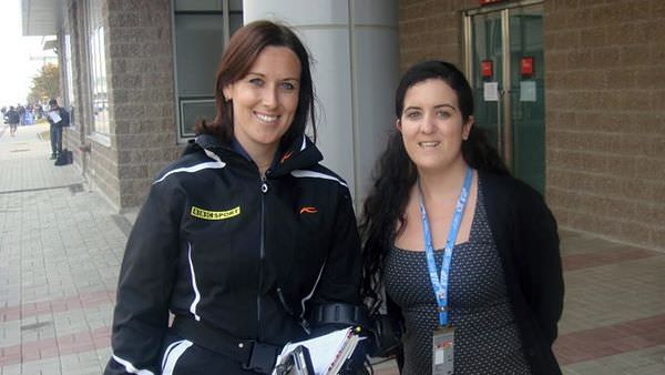 The ladies of F1, Amy meets Lee McKenzie