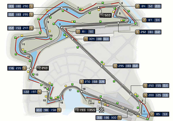 Korean International Circuit Map