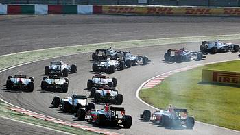 An action packed race gets underway in Suzuka