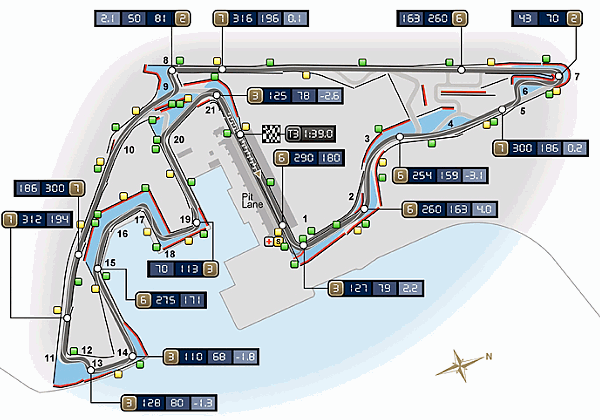 Yas Marina Circuit Map