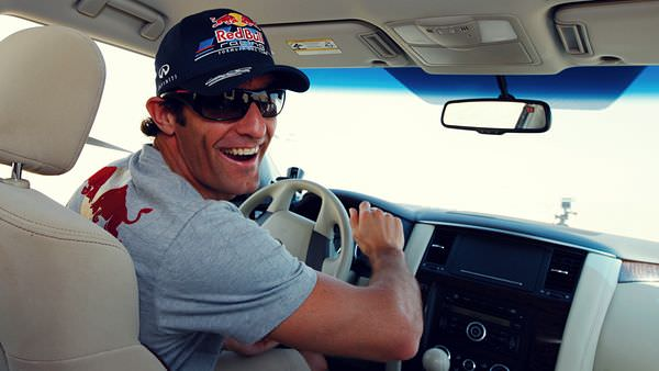 A little off-road action for Mark Webber