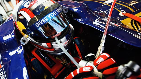 Sitting in the Toro Rosso garage, all in one piece