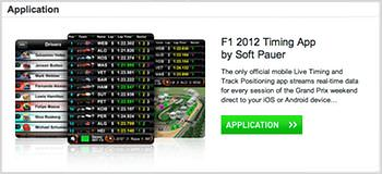 Official F1 Timing app