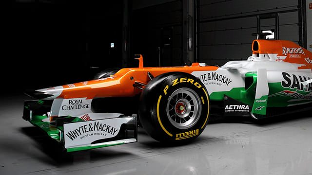 Force India roll out the VJM05 at Silverstone