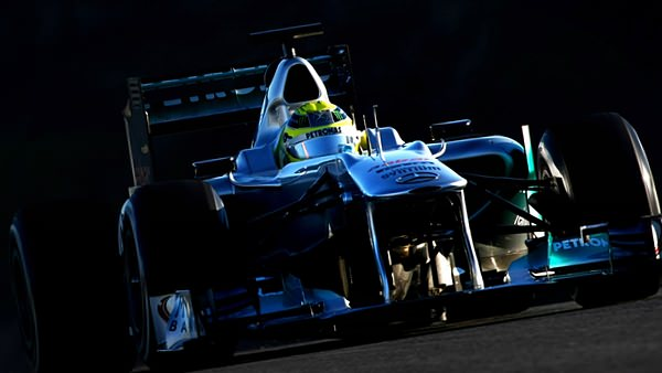 Nico tops the timesheets in the W02's last outing