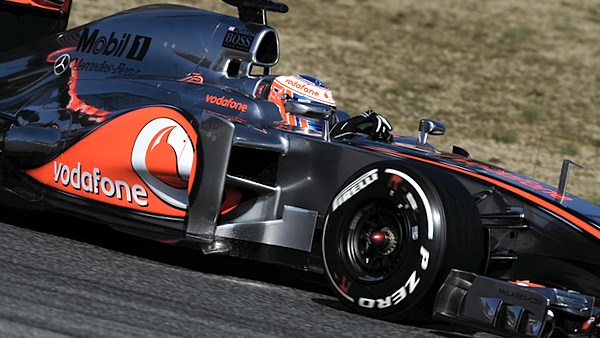 Button leads the way at McLaren