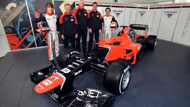Marussia reveal the new MR01 at Silverstone