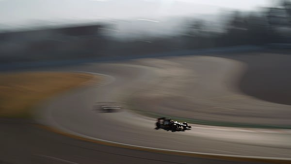 Lotus leave Barcelona in a blur