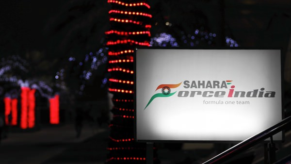 Force India paddock sign