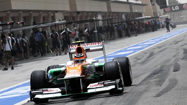 Force India pit lane