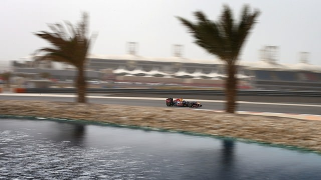 Sebastian Vettel takes pole position for the Bahrain Grand Prix