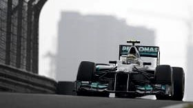 Nico Rosberg starts the Chinese Grand Prix from pole position - his first Formula One P1 grid slot. Alongside him, Michael Schumacher. With two cars not known for their race pace up front, chased by a Sauber, Lotus and McLaren, plus the potential for rain and a hungry Lewis Hamilton wanting to make up for his gearbox penalty, we could be in for a classic race. The championship is still taking its early form, and Fernando Alonso knows his title bid is a long way off, despite leading for now. Who will be on top by the end of the day?