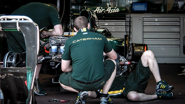 Caterham F1 keep busy
