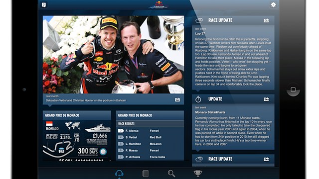 Red Bull Racing Spy app screenshot