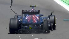 Vergne's tyre damage