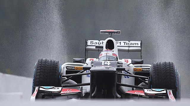 Kobayashi and Pic lead wet practice day in Belgium