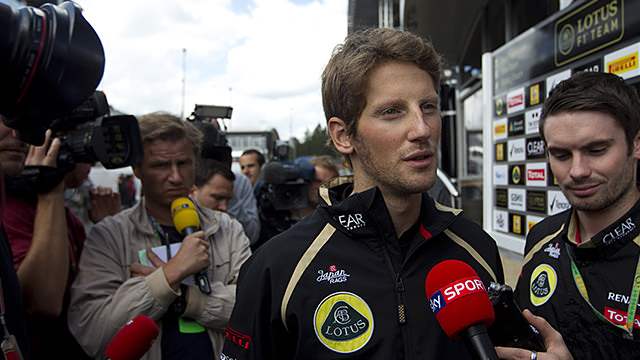 Romain Grosjean given a one-race ban for Belgium crash