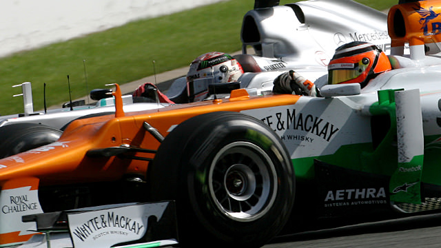 Hülkenberg races Schumacher in Spa