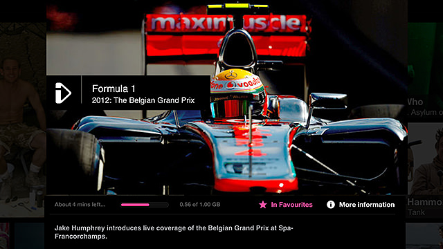 Downloading an F1 race on the iPlayer