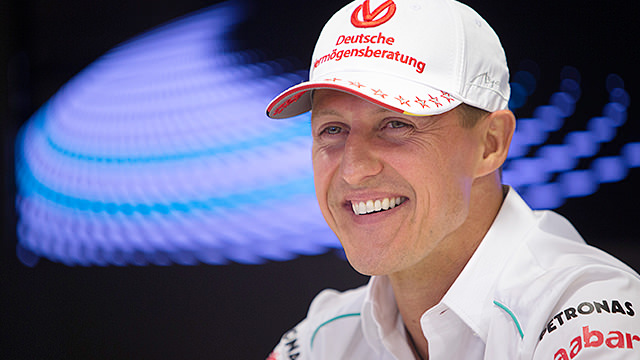 Schumacher and Hamilton head sunny practice in Italy