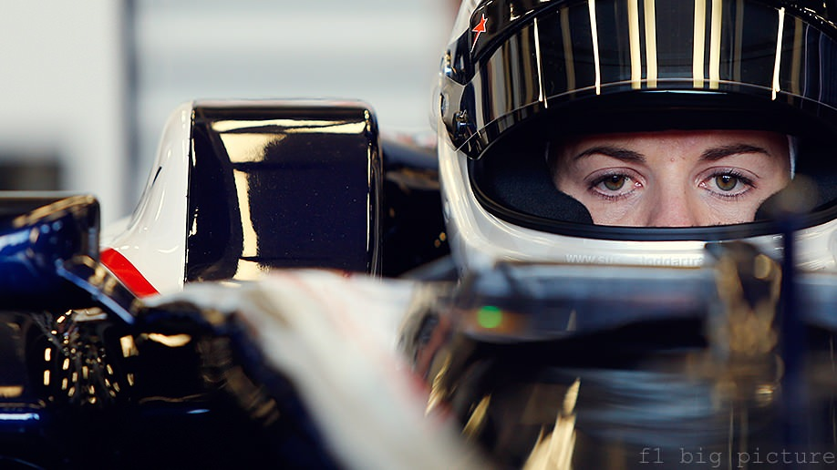 Susie Wolff drives Williams car for the first time