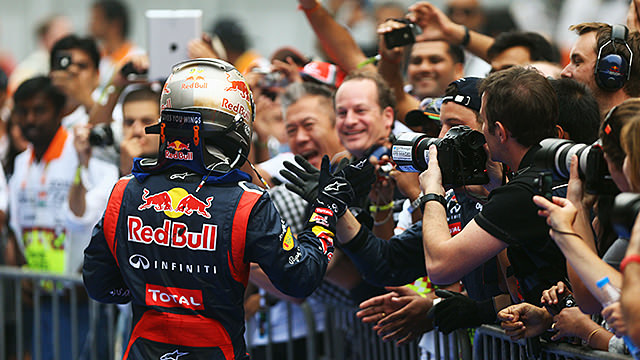 Vettel wins in India, as Red Bull close in on the championship