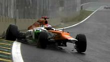 Di Resta in the wall