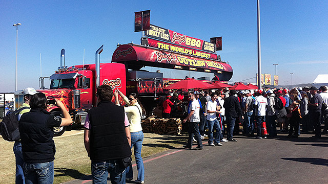 Why yes, yes this is the largest BBQ grill in the world
